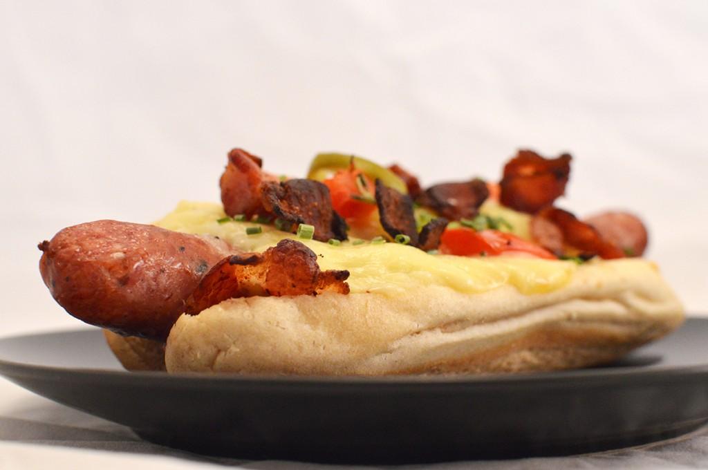Gratinated Hot Dog :)